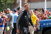 Liverpool manager Jurgen Klopp arrives at the stadium during the Manchester United and Liverpool International Champions Cup match at the Michigan Stadium, Ann Arbor, United States on 28 July 2018.