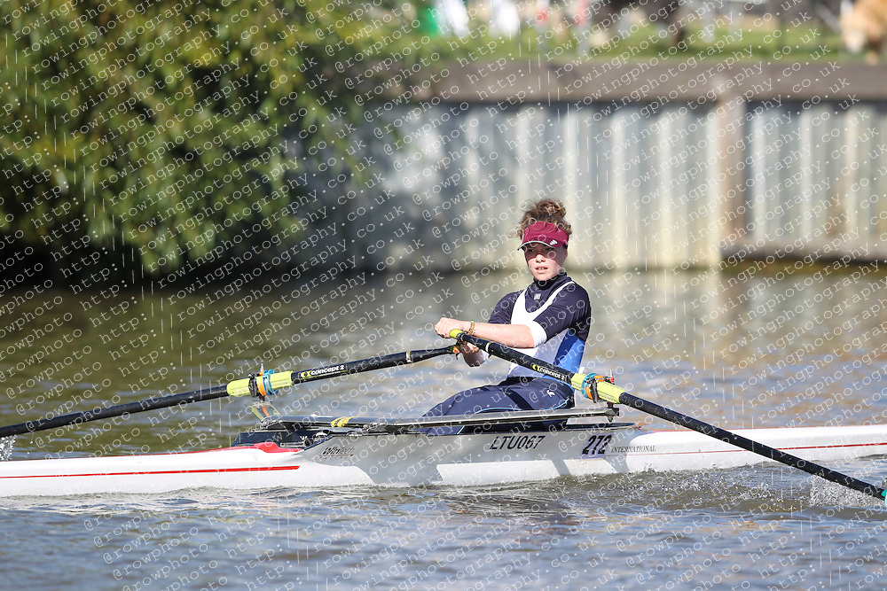 29.09.2012. Wallingford Long Distance Sculls 2012, The River Thames. Division 1. W.Nov 1x. Latymer Upper School Boat Club.