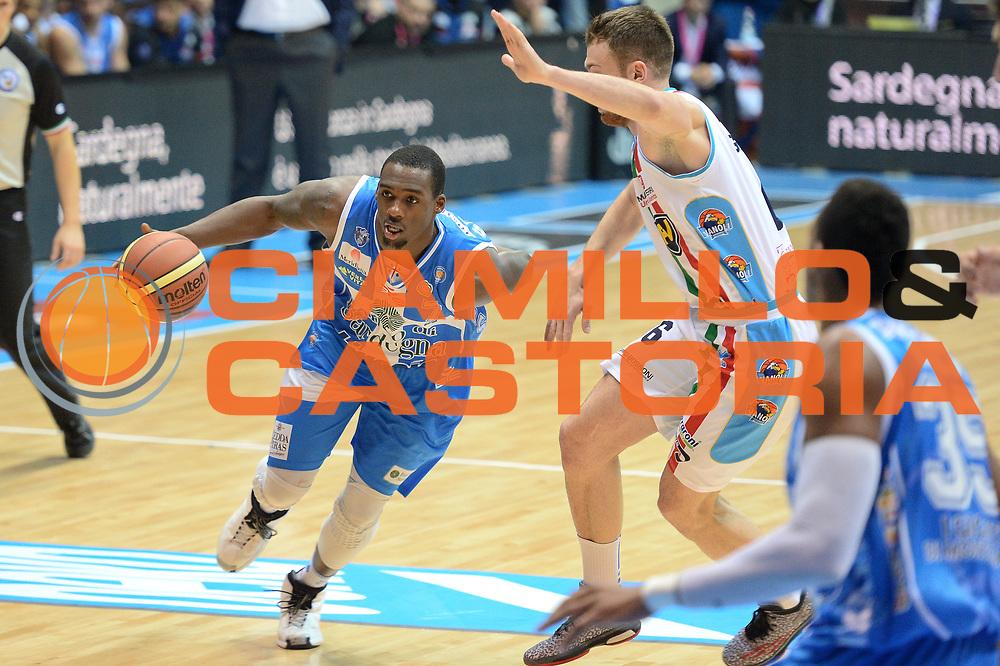 DESCRIZIONE : Final Eight Coppa Italia 2015 Desio Quarti di Finale Banco di Sardegna Sassari vs Vagoli Basket Cremona<br /> GIOCATORE : Sanders Rakim<br /> CATEGORIA :Palleggio Penetrazione<br /> SQUADRA : Banco di Sardegna Sassari<br /> EVENTO : Final Eight Coppa Italia 2015 Desio <br /> GARA : Banco di Sardegna Sassari vs Vagoli Basket Cremona<br /> DATA : 20/02/2015 <br /> SPORT : Pallacanestro <br /> AUTORE : Agenzia Ciamillo-Castoria/I.Mancini