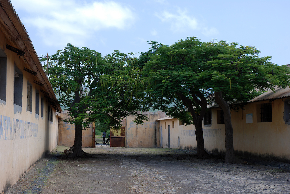 The infamous prison for political prisoners at Tarrafal, Santiago Island, Cape Verde islands (Capo Verde).  The prison has now been closed and turned into a museum.