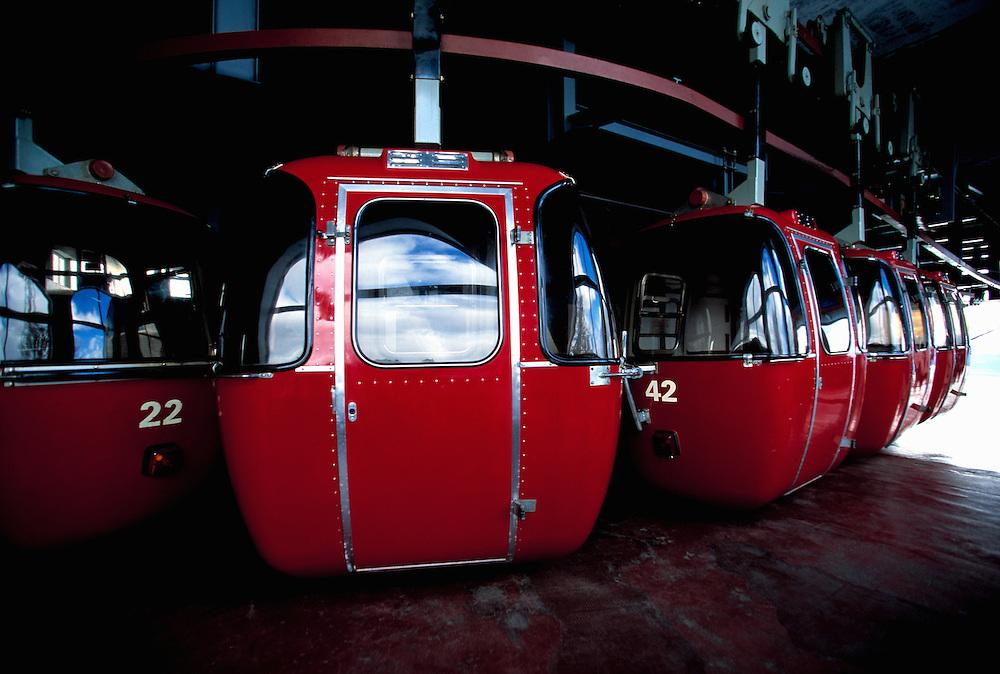 Travel. Editorial. The immaculate gondola at Cerro Otto, San Carlos De Bariloche, Rio Negra Argentina.