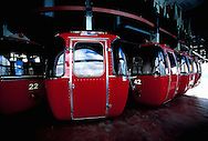 Travel. Editorial. The immaculate gondola at Cerro Otto, San Carlos De Bariloche, Rio Negra Argentina.