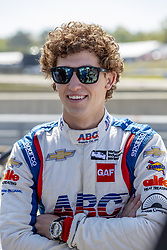 April 21, 2018 - Birmingham, Alabama, United States of America - MATHEUS LEIST (4) of Brazil waits for a practice session for the Honda Indy Grand Prix of Alabama at Barber Motorsports Park in Birmingham Alabama. (Credit Image: © Walter G Arce Sr Asp Inc/ASP via ZUMA Wire)