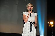 ©www.agencepeps.be - 24042014 - Festival du Film Policier de Liège 2014 - Pics: Alizée Poulicek présentatrice du festival