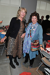 Left to right, ANNABEL ELLIOT and LADY ASHCOMBE at the ASAP (African Solutions to African Problems) Lunch held at the Louise T Blouin Foundation, 3 Olaf Street, London W11 on 15th May 2012.