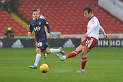 Sheffield United midfielder Jose Baxter kicks forward during the Sky Bet League 1 match between Sheffield Utd and Southend United at Bramall Lane, Sheffield, England on 14 November 2015. Photo by Ian Lyall.