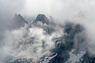 Tors in the fog, Säntis, Alpstein, Switzerland