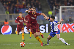 February 12, 2019 - Roma, Roma, Italia - Foto Luciano Rossi/AS Roma/ LaPresse.12/02/2019 Roma (Italia).Sport Calcio.AS Roma - Porto  .Uefa Champions League 2018 2019 - Stadio Olimpico di Roma.Nella foto: Edin Dzeko..Photo  Luciano Rossi/AS Roma/ LaPresse.12/02/2019 Roma (Italia).Sport Soccer.AS Roma - Porto   .Uefa Champions League 2018 2019 - Olimpic Stadium of Roma (Italy).In the pic: Edin Dzeko (Credit Image: © Luciano Rossi/Lapresse via ZUMA Press)