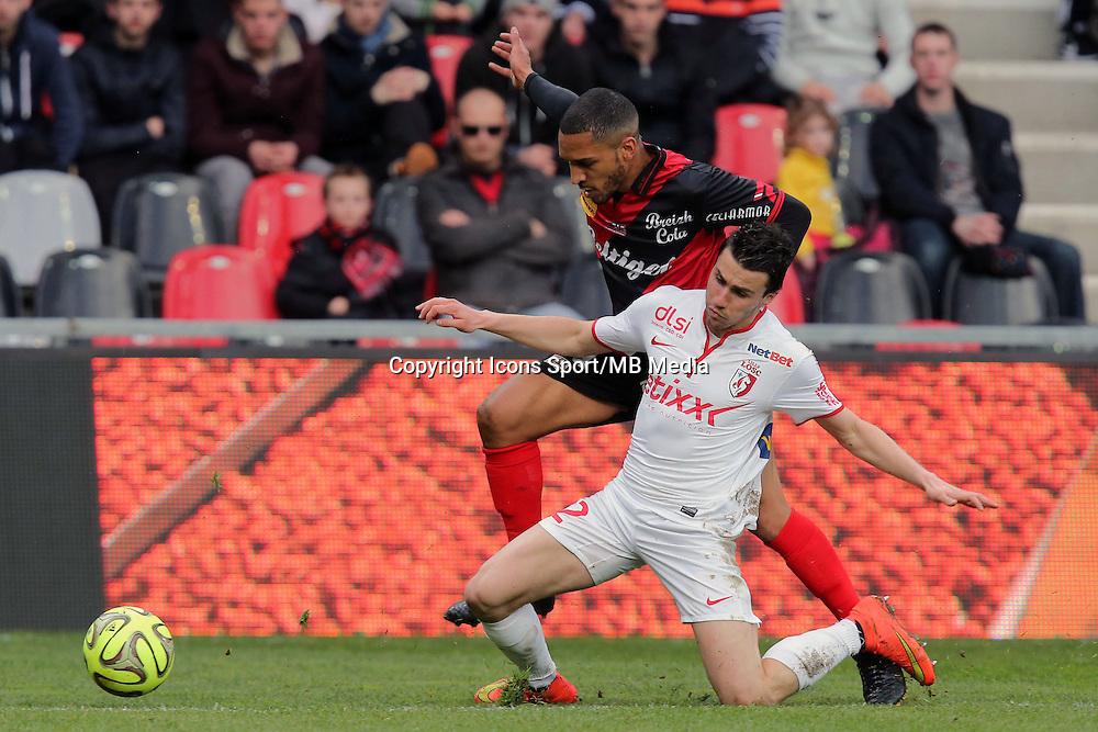 Sylvain MARVEAUX / Sebastien CORCHIA  - 08.03.2015 -  Guingamp / Lille -  28eme journee de Ligue 1 <br /> Photo : Vincent Michel / Icon Sport<br /> <br />   *** Local Caption ***