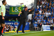 Barnet manager Martin Allen yells out instructions from the sideline in the first halfduring the EFL Sky Bet League 2 match between Portsmouth and Barnet at Fratton Park, Portsmouth, England on 24 September 2016. Photo by Ian  Muir. during the EFL Sky Bet League 2 match between Portsmouth and Barnet at Fratton Park, Portsmouth, England on 24 September 2016. Photo by Ian  Muir.