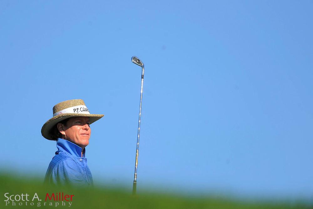 Briny Baird tees off on the sixth hole on the North Course during the pro-am prior to the Farmers Insurance Open at Torrey Pines on Jan. 25, 2012 in San Diego, California...©2012 Scott A. Miller