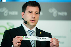 Ales Zavrl of NZS with paper TKK Tolmin during NZS Draw for season 2015/16 on June 23, 2015 in Brdo pri Kranju, Slovenia. Photo by Vid Ponikvar / Sportida