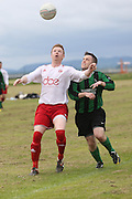 AC Harleys (white) v Ferry Mechanics in the match which secured AC Harleys the 1st Division title - Dundee Saturday Morning FA - Super Saturday at Dundee UNI<br /> <br />  - &copy; David Young - www.davidyoungphoto.co.uk - email: davidyoungphoto@gmail.com