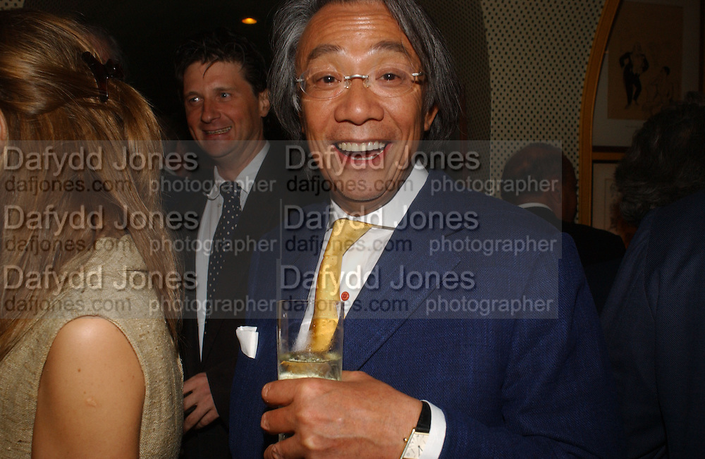 Lord Johnson Somerset and David Tang, Party given by Taki and Alexandra Theodorakopoulos. Annabels. London. 26 September 2006. -DO NOT ARCHIVE-© Copyright Photograph by Dafydd Jones 66 Stockwell Park Rd. London SW9 0DA Tel 020 7733 0108 www.dafjones.com