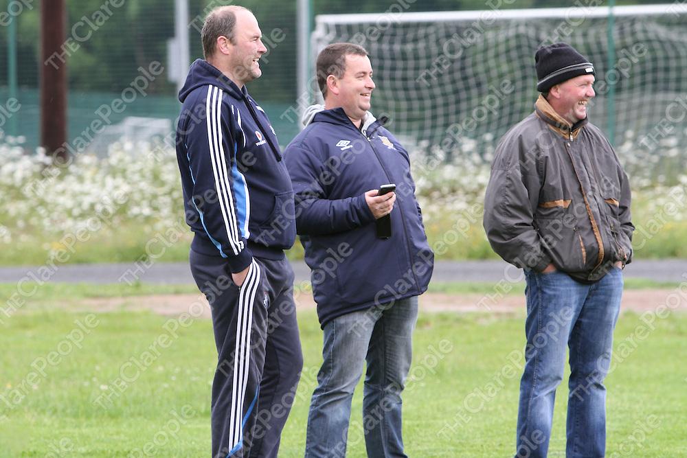 Kieran Guerin, Tom Egan & Michael Danagher watching the Guinness Book World Recod Penalty Challenge. Photograph by Flann Howard
