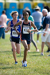 Virginia Cavaliers Michael Hagos..The Virginia Cavaliers hosted the 2007 Lou Onesty Invitational Cross Country meet at Panorama Farms near Charlottesville, VA on September 7, 2007.