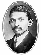 Mohondas Karamchand Gandhi (1869-1948), known as Mahatma (Great Soul), as a young man. Indian Nationalist leader and organiser of the non-cooperative movement against British rule in India.