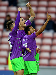 Milan Djuric of Bristol City celebrates with teammates after scoring a goal to make it 2-1 - Mandatory by-line: Robbie Stephenson/JMP - 28/10/2017 - FOOTBALL - Stadium of Light - Sunderland, England - Sunderland v Bristol City - Sky Bet Championship