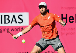 March 8, 2019 - Indian Wells, CA, U.S. - INDIAN WELLS, CA - MARCH 08: Steve Johnson (USA) in action in the first set of a match during the BNP Paribas Open played at the Indian Wells Tennis Garden in Indian Wells, CA. (Photo by John Cordes/Icon Sportswire) (Credit Image: © John Cordes/Icon SMI via ZUMA Press)