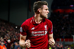 James Milner of Liverpool celebrates victory over Barcelona to make the Champions League Final - Mandatory by-line: Robbie Stephenson/JMP - 07/05/2019 - FOOTBALL - Anfield - Liverpool, England - Liverpool v Barcelona - UEFA Champions League Semi-Final 2nd Leg