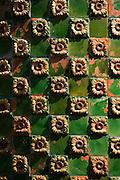 Ceramic tiles at El Capricho de Gaudi (The Caprice Villa Quijano) at Comillas in Cantabria, Northern Spain