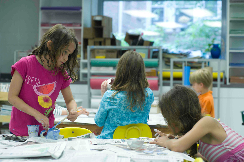 WASHINGTON (2010-2011) -- River School kids and the Falcons in art class.  Photo by Johnny Bivera