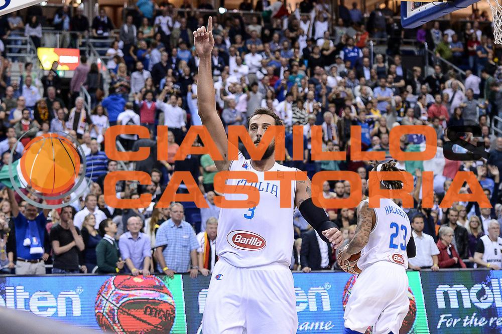 DESCRIZIONE : Berlino Berlin Eurobasket 2015 Group B Germany Germania - Italia Italy<br /> GIOCATORE : Marco Bellinelli<br /> CATEGORIA : Ritratto Esultanza<br /> SQUADRA : Italia Italy<br /> EVENTO : Eurobasket 2015 Group B<br /> GARA : Germany Italy - Germania Italia<br /> DATA : 09/09/2015<br /> SPORT : Pallacanestro<br /> AUTORE : Agenzia Ciamillo-Castoria/M.Longo