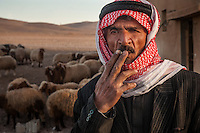 A displaced Syrian farmer due to drought
