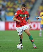 CRISTIANO RONALDO (Portugal) during the 2010 FIFA World Cup South Africa Group G match between Portugal and Brazil at Durban Stadium on June 25, 2010 in Durban, South Africa.