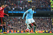 Manchester City midfielder Yaya Toure (42) during the Barclays Premier League match between Manchester City and Manchester United at the Etihad Stadium, Manchester, England on 20 March 2016. Photo by Phil Duncan.