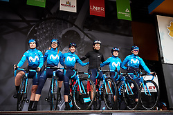 Movistar Women's Team sign on at ASDA Tour de Yorkshire Women's Race 2019 - Stage 1, a 132 km road race from Barnsley to Bedale, United Kingdom on May 3, 2019. Photo by Sean Robinson/velofocus.com