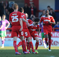 Crawley's Anthony Wordsworth celebrates his goal. - Photo mandatory by-line: Dougie Allward/JMP - Mobile: 07966 386802 - 07/03/2015 - SPORT - Football - Crawley - Broadfield Stadium - Crawley Town v Bristol City - Sky Bet League One