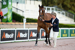 Rebecca Hart, (USA), Schroeters Romani, - Horse Inspection Para Dressage - Alltech FEI World Equestrian Games™ 2014 - Normandy, France.<br /> © Hippo Foto Team - Jon Stroud<br /> 25/06/14