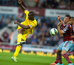 LONDON, ENGLAND - Saturday, September 20, 2014: Liverpool's Mario Balotelli in action against West Ham United during the Premier League match at Upton Park. (Pic by David Rawcliffe/Propaganda)