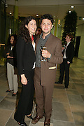 Ellie Shawcross and her brother Conrad Shawcross, Space Trumpet- Conrad Shawcross. Hosted by Unilever, Anderson O'Day Fine Art and Victoria Miro. Unilever Building. 100 Victoria Embankment. 23 May 2007. <br /> -DO NOT ARCHIVE-© Copyright Photograph by Dafydd Jones. 248 Clapham Rd. London SW9 0PZ. Tel 0207 820 0771. www.dafjones.com.