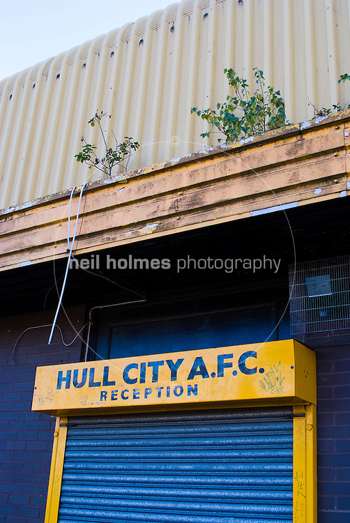 Hull City's former home Boothferry Park as seen in november 2006, decaying and showing severe vandalism. The ground has been subsequently demolished.