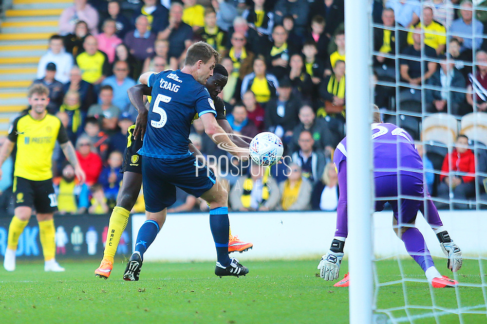 Burton Albion forward Lucas Akins (10) scores a goal 1-0 during the EFL Sky Bet League 1 match between Burton Albion and Bristol Rovers at the Pirelli Stadium, Burton upon Trent, England on 31 August 2019.