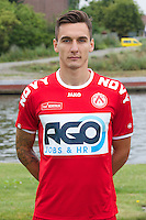 Kortrijk's Zarko Tomasevic poses for the photographer during the 2014-2015 season photo shoot of Belgian first league soccer team KV Kortrijk, Tuesday 08 July 2014 in Kortrijk.