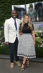 Sol and Fiona Campbell arrive on day two of the Wimbledon Championships at the All England Lawn Tennis and Croquet Club, Wimbledon.