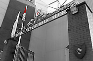 Picture by Paul Chesterton/Focus Images Ltd.  07904 640267.22/10/11.The Kop, Bill Shankly statue, The Shankly gates and the Hillsborough Memorial before the Barclays Premier League match at Anfield, Liverpool