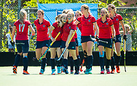 HUIZEN - Nijmegen heeft de score geopend. bij de eerste play off wedstrijd voor promotie naar de hoofdklasse , Huizen-Nijmegen (3-2) COPYRIGHT KOEN SUYK