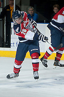 KELOWNA, CANADA -FEBRUARY 19: Brian Williams #26 of the Tri City Americans warms up against the Kelowna Rockets on February 19, 2014 at Prospera Place in Kelowna, British Columbia, Canada.   (Photo by Marissa Baecker/Getty Images)  *** Local Caption *** Brian Williams;