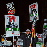8 Dec 2017 - Protest at the London  U.S. Embassy against Trump's Israeli Embassy move.