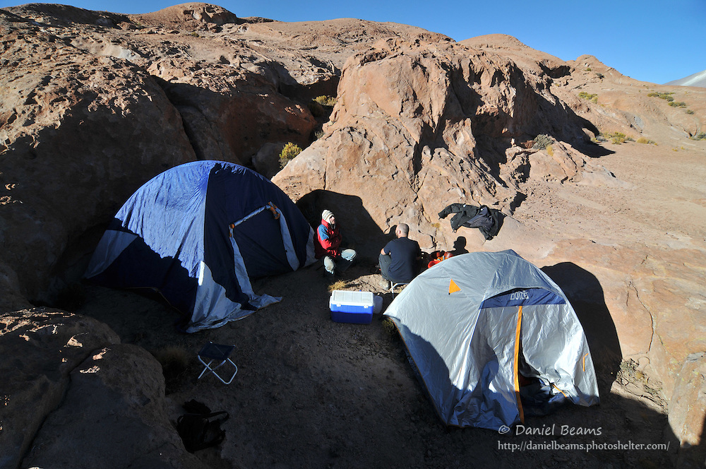 Camping on the altiplano in Southern Bolivia