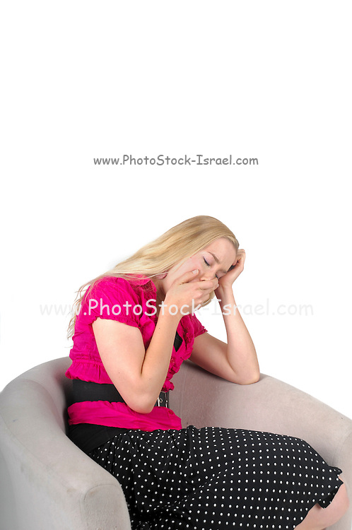 Bored young blond woman