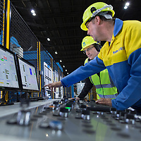 Oct 2014 - TATA Steel - Lllanwern Works , Magor , South Wales. Images of the Heavy Gauge Decoiler