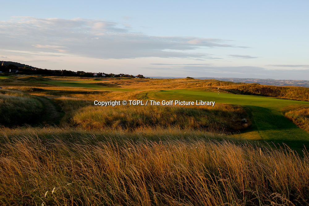 6th par 3 Royal Liverpool Golf Club, Hoylake,Wirral,England, during summer 2013,venue for the 2014 Open Championship.
