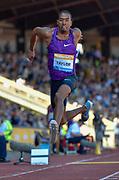 Christian Taylor (USA) leaps in the Triple Jump during the Sainsbury's Birmingham Grand Prix IAAF Diamond League Meeting at Alexandra Stadium, Birmingham, West Midlands, England on June  07  2015. (Steve Flynn/Image of Sport)