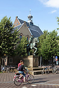 Statue of Willibrord outside Janskerk in Utrecht, Netherlands.