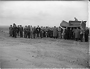 16/09/1952<br /> 09/16/1952<br /> 16 September 1952<br /> Roadstone Ltd. Hill of Allen quarry, Luncheon, blasting and demonstration of road-laying by machine.